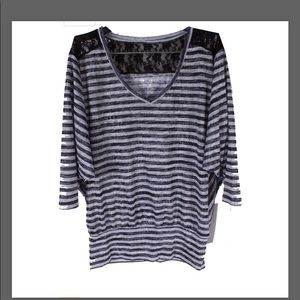 Ideology Dolman Top stripped size small